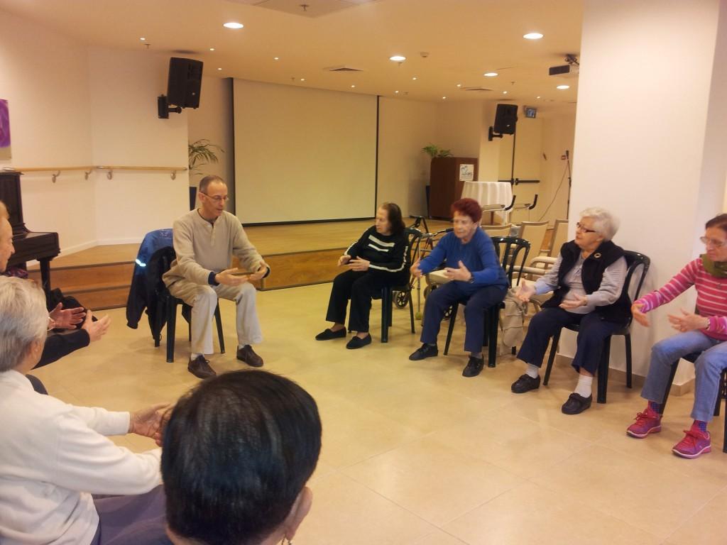 שיעור טאי צ'י בישיבה